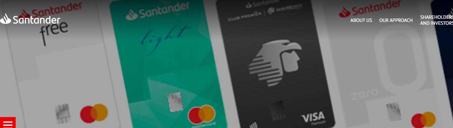 Santander numberless credit card