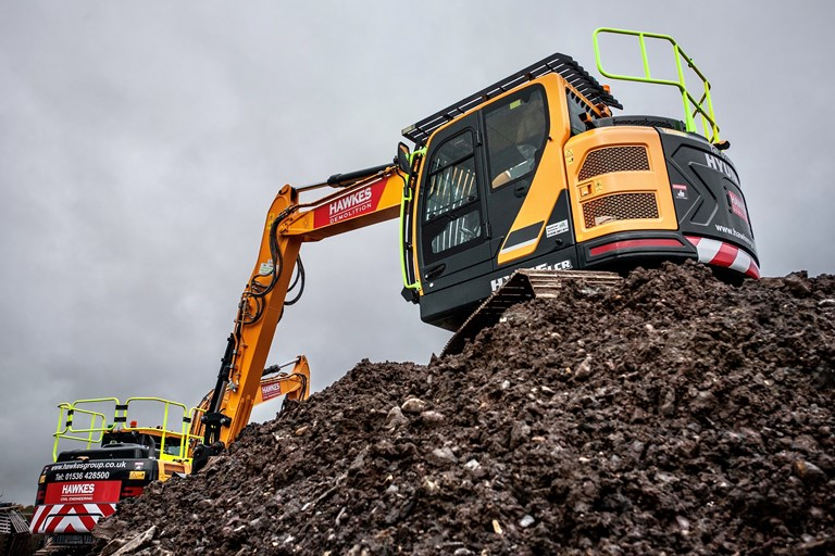 Simply funds excavators for Hawkes Group