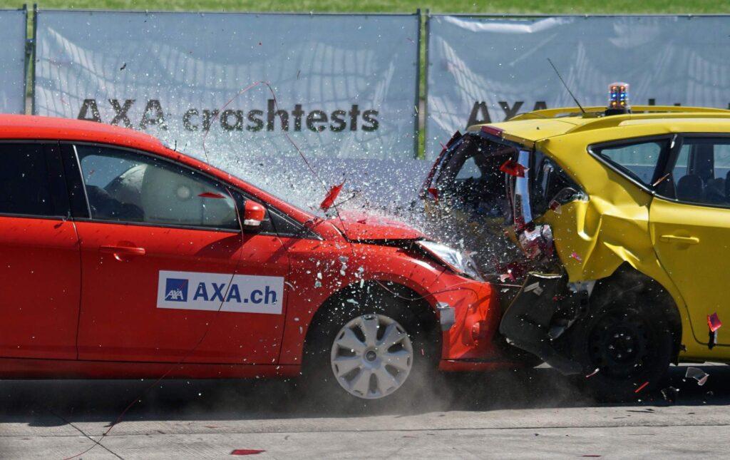 Insurance car crash