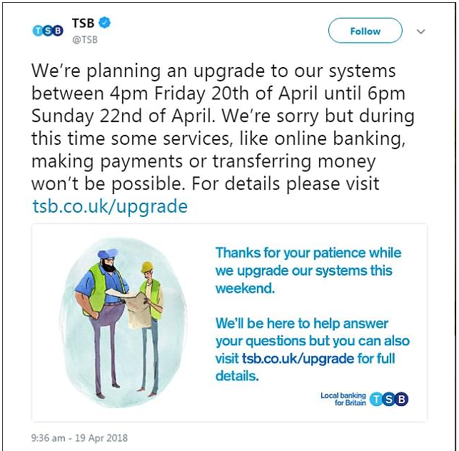 TSB - TSB banking error sees customer mistakenly credited with £13,000