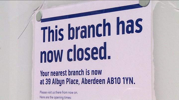 UK bank branch closures 2016-2018 - 1 in 5 branches axed in