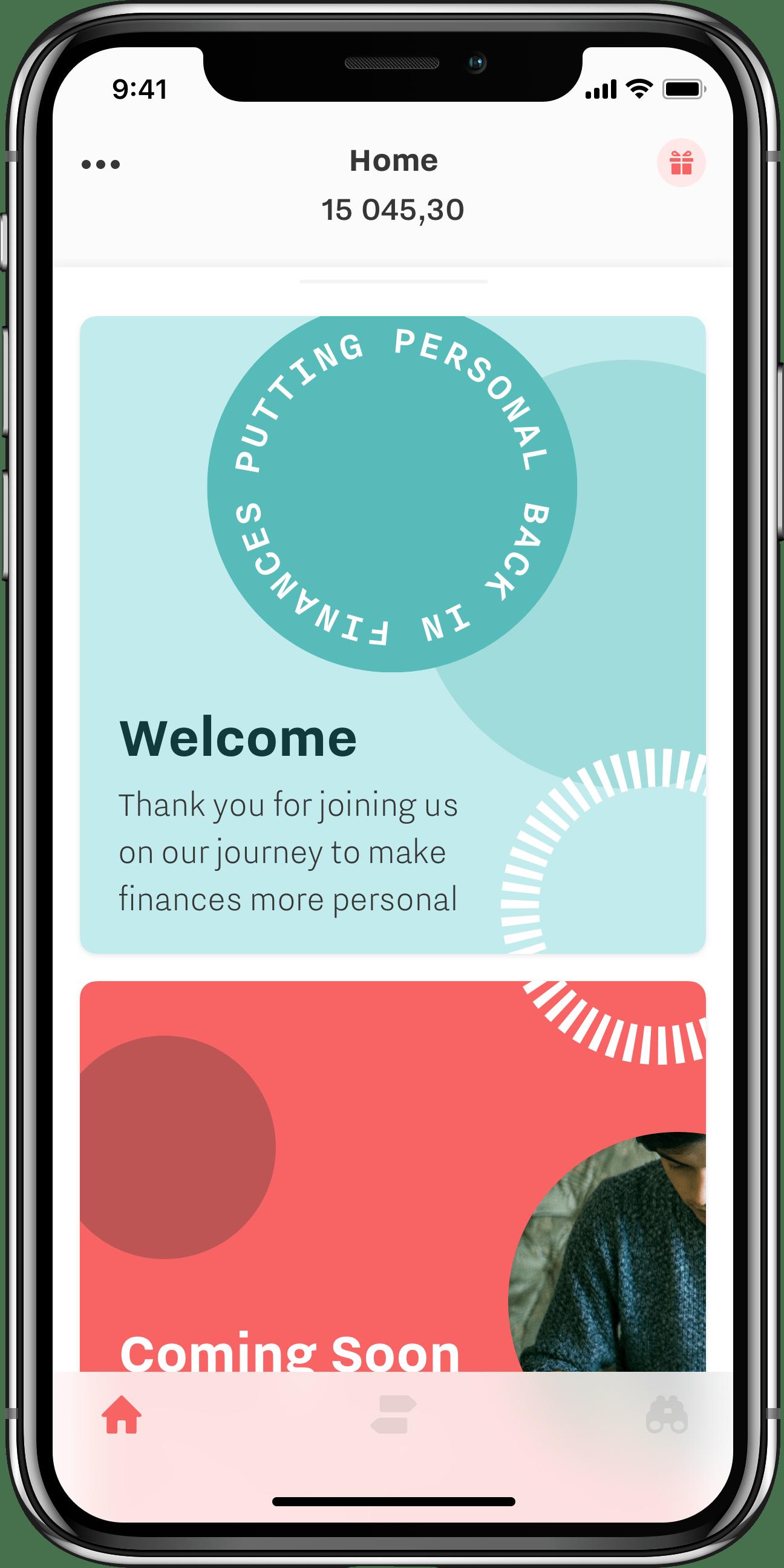 Swedish neobank PFC mobile app