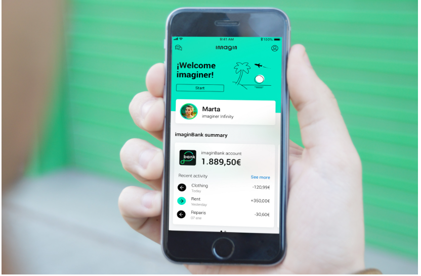 imagin - CaixaBank relaunches mobile-only bank for young people imagin