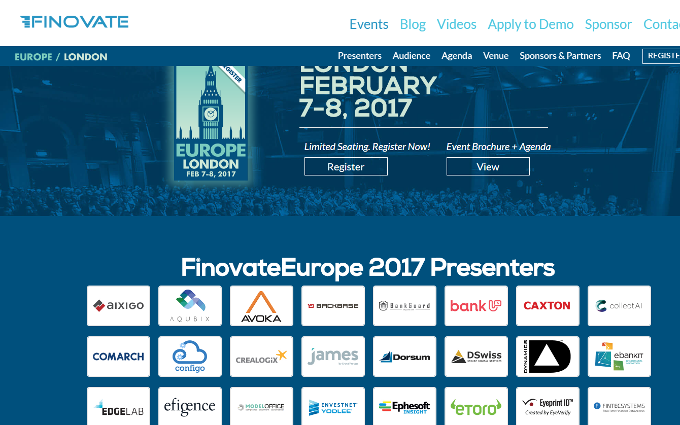 FinovateEurope is a big date in the fintech diary
