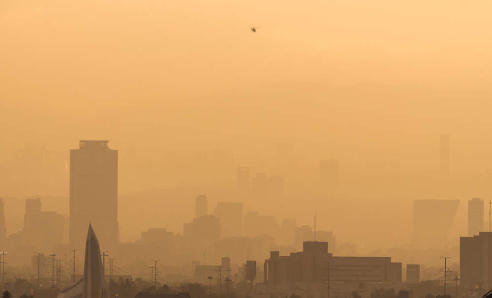 Mexico City's polluted skyline