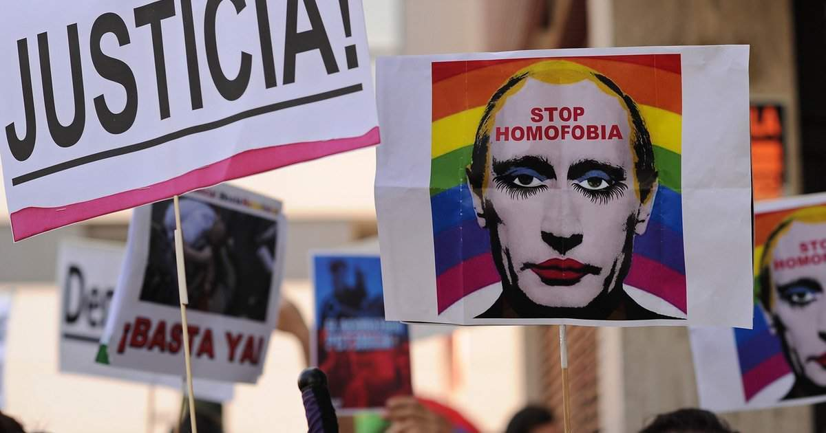 Gay concentration camps in Chechnya prompt protest
