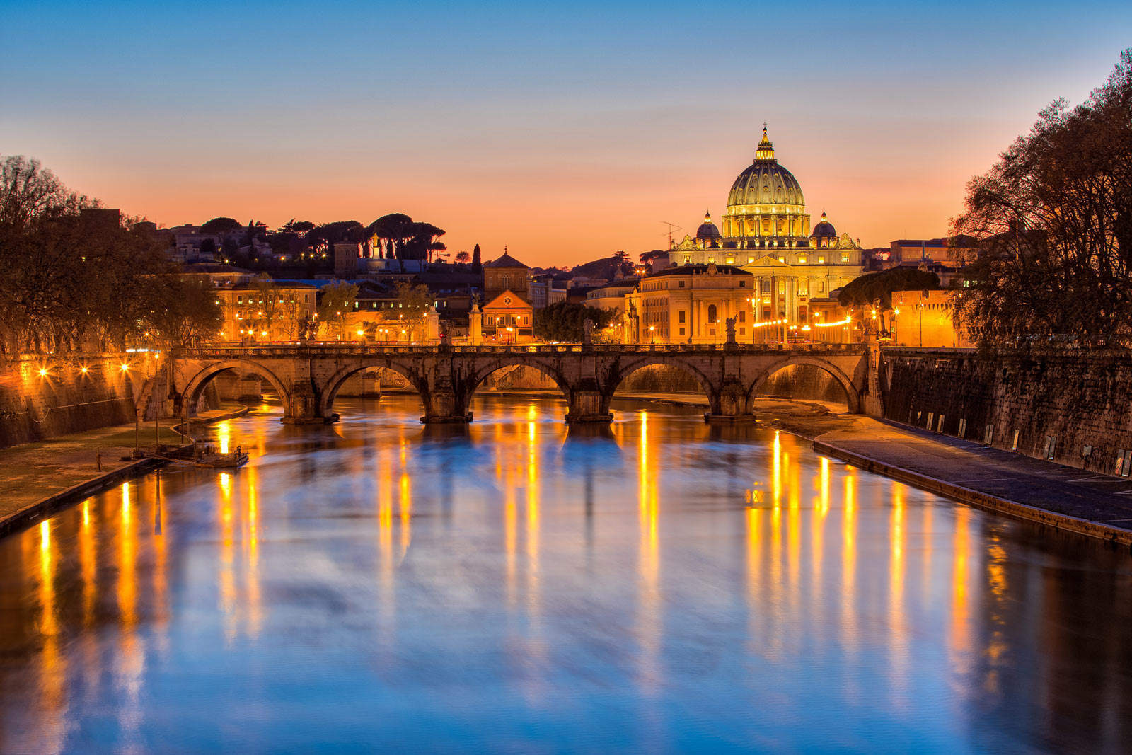 Rome River sunset