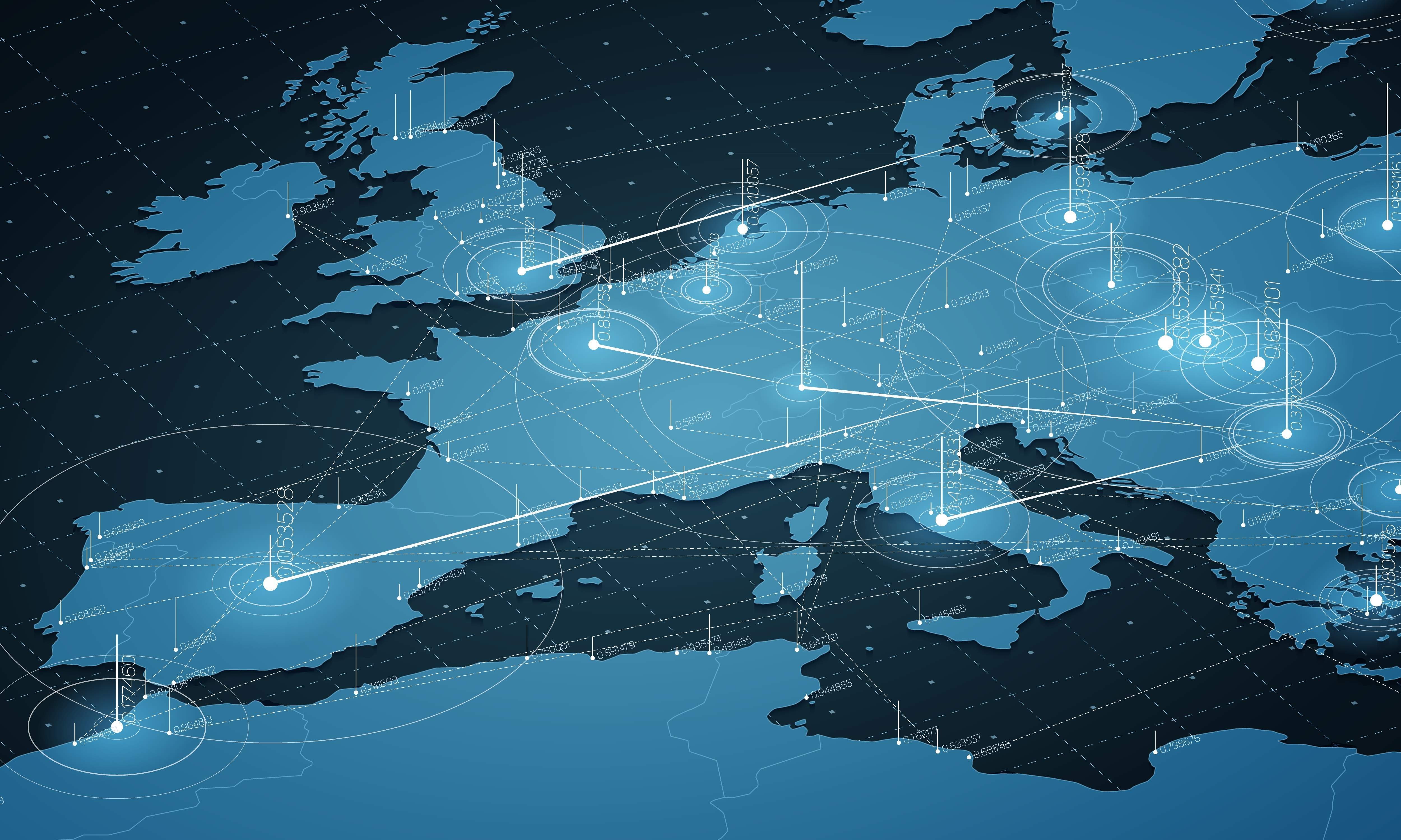 There are huge differences in how much mobile data European countries use