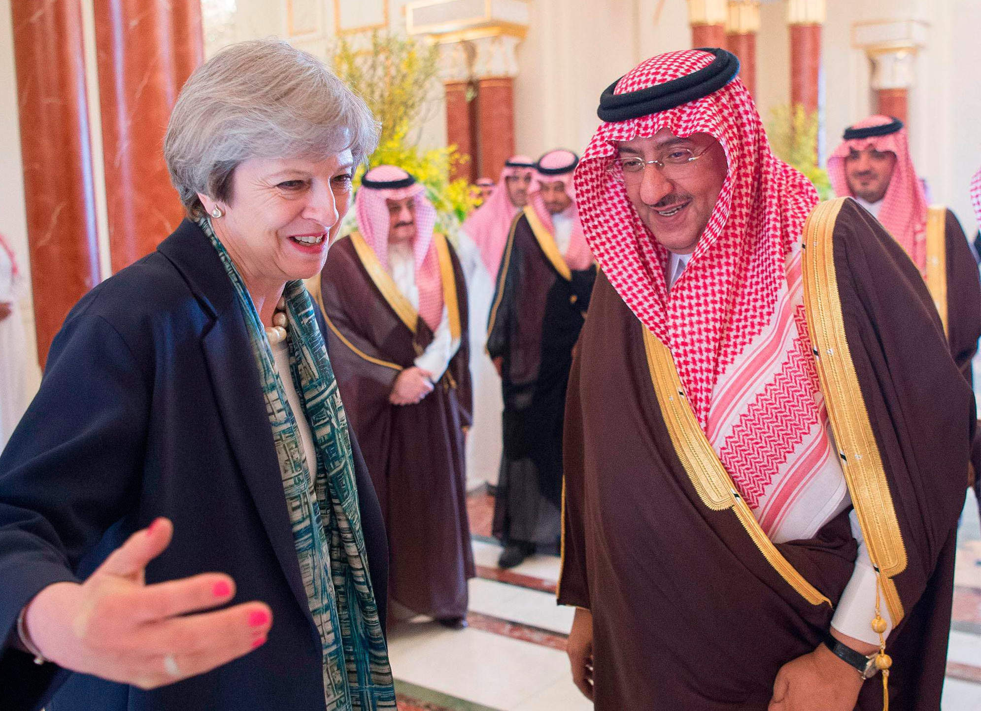Saudi Crown Prince Mohammed bin Salman is going to visit the UK as May goes on Saudi Aramco charm offensive