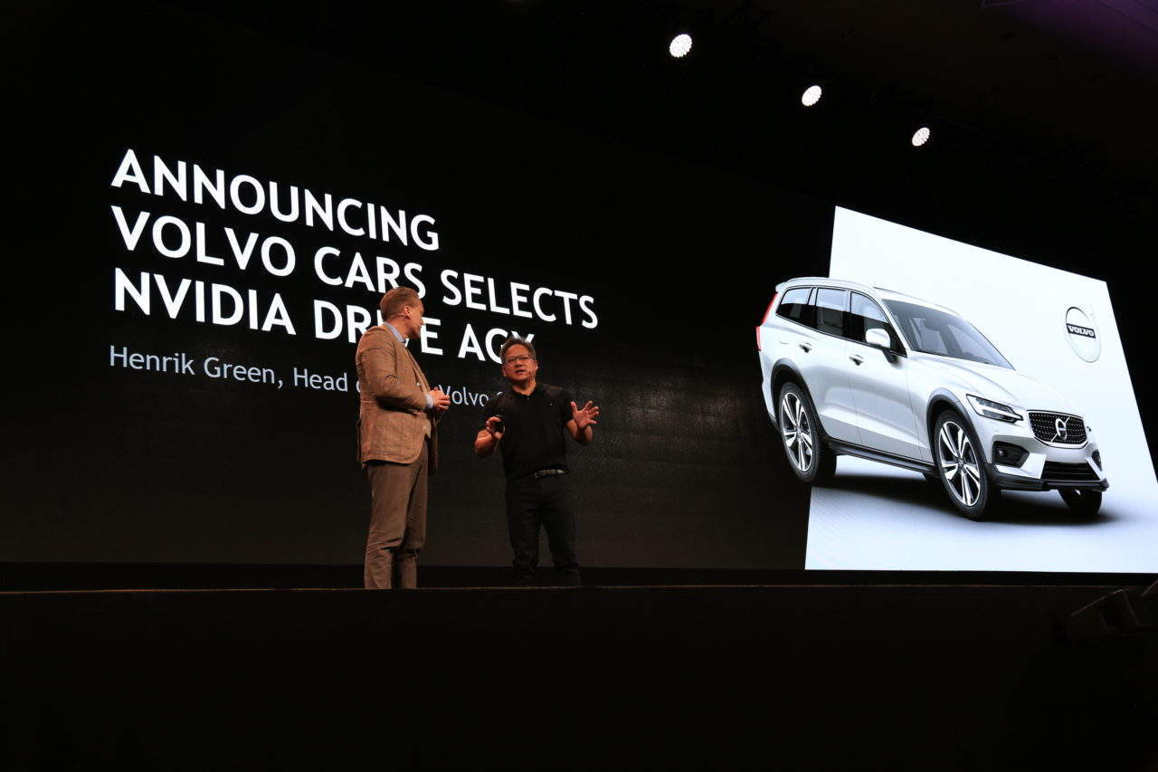 Nvidia Volvo autonomous cars