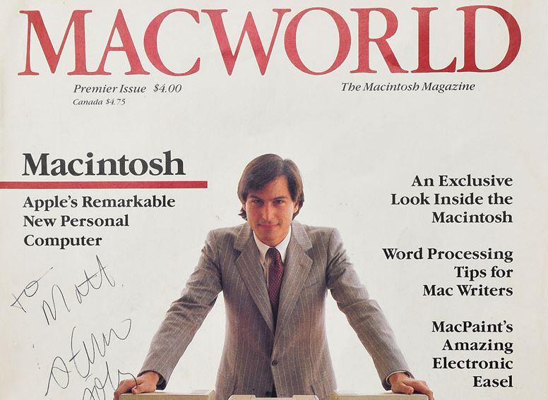 Macworld magazine signed by Apple's Steve Jobs to be sold at auction