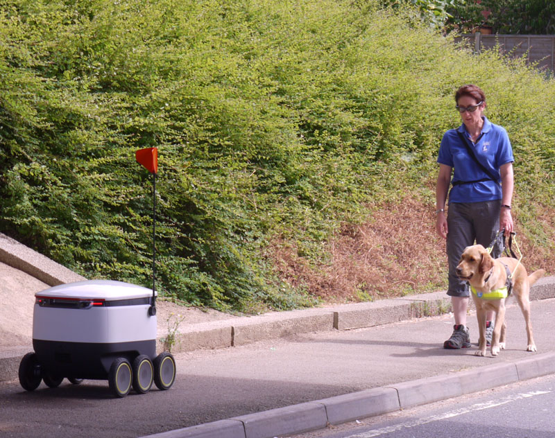 guide dogs and delivery robots from Starship Technologies