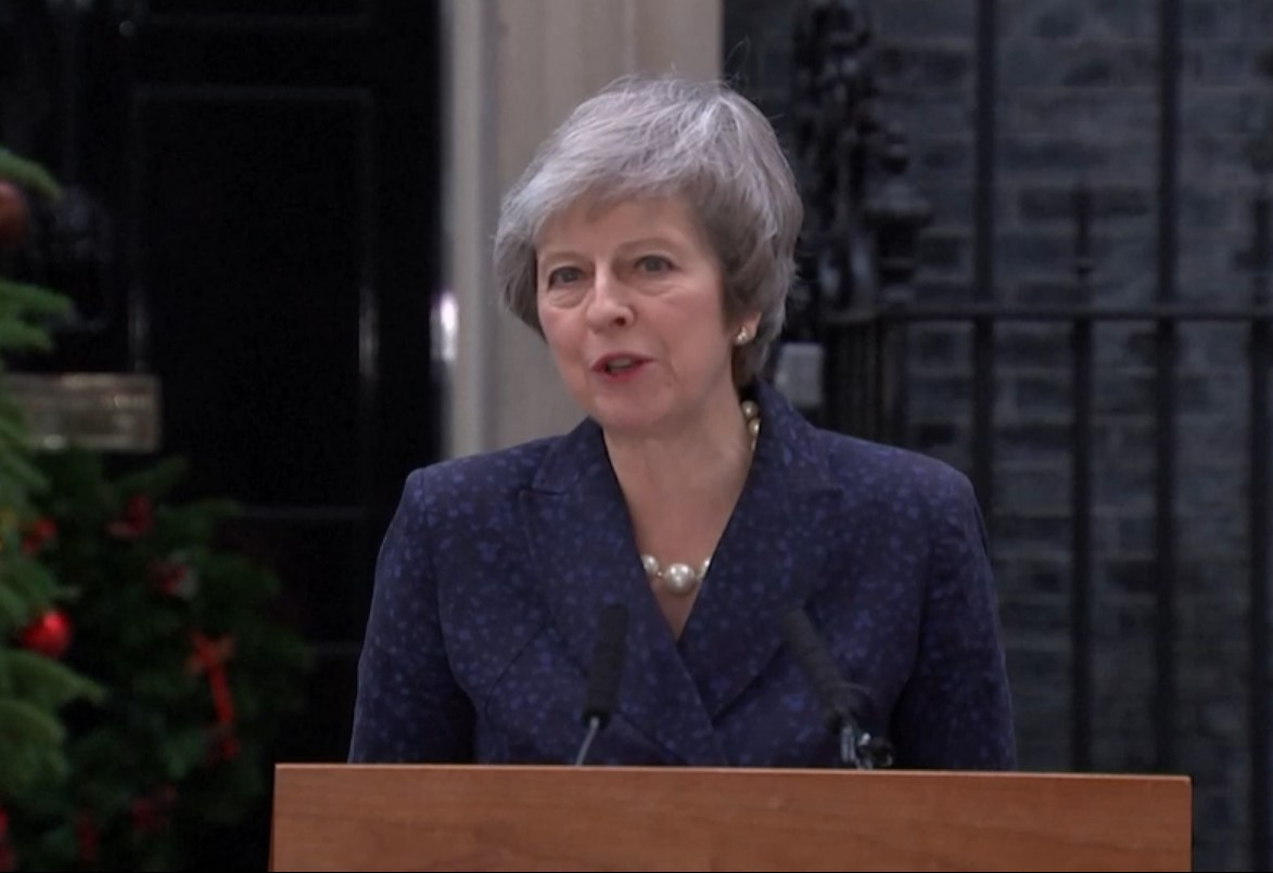 Theresa May speech no confidence vote