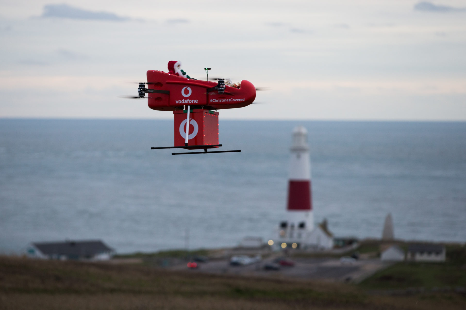 UK's first drone delivery over 4G sees Vodafone bring Christmas cheer