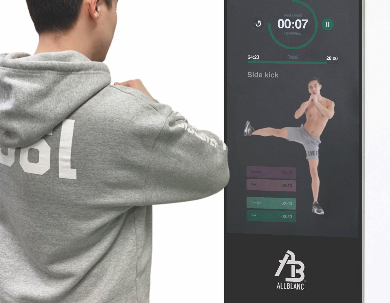 The fitness smart mirror bringing workout classes home