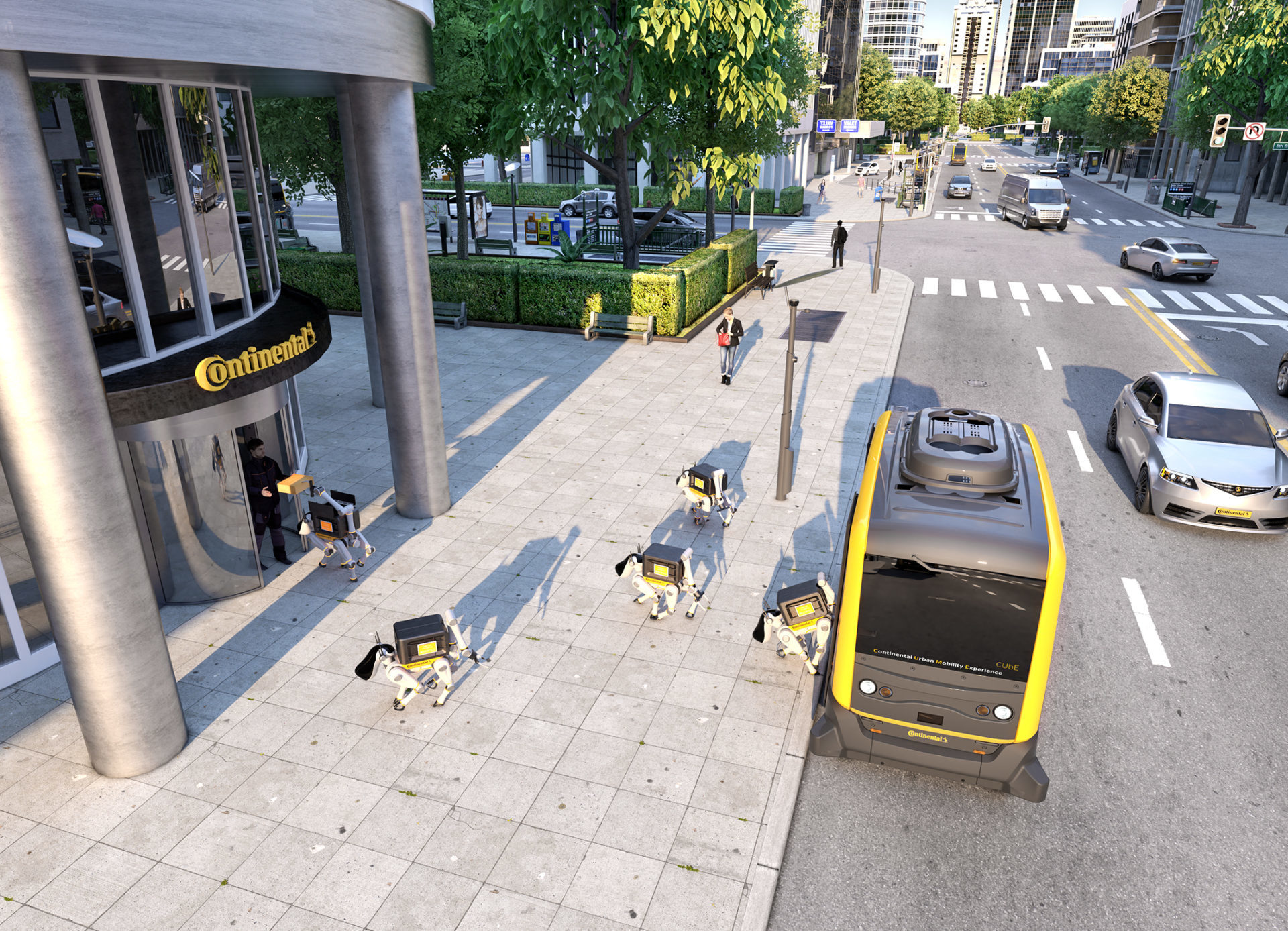 This robot delivery dog will hitch a ride in a driverless car to deliver your packages