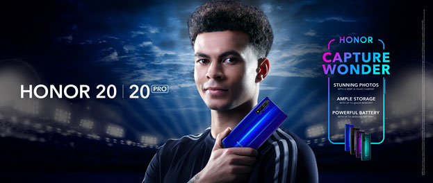 Honor 20 launch Dele Alli