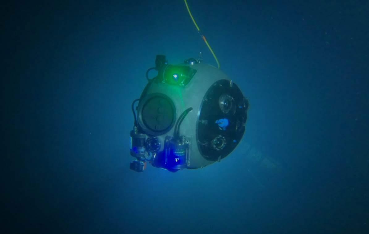 underwater robot mine sites