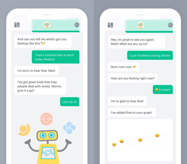 mental health chatbots Woebot