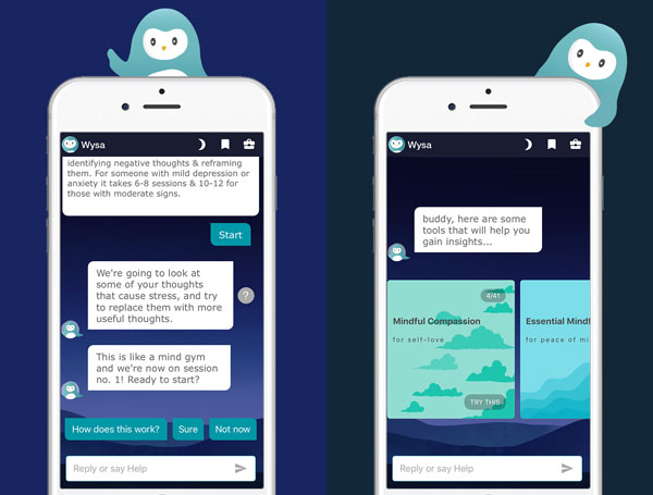 mental health chatbots Wysa