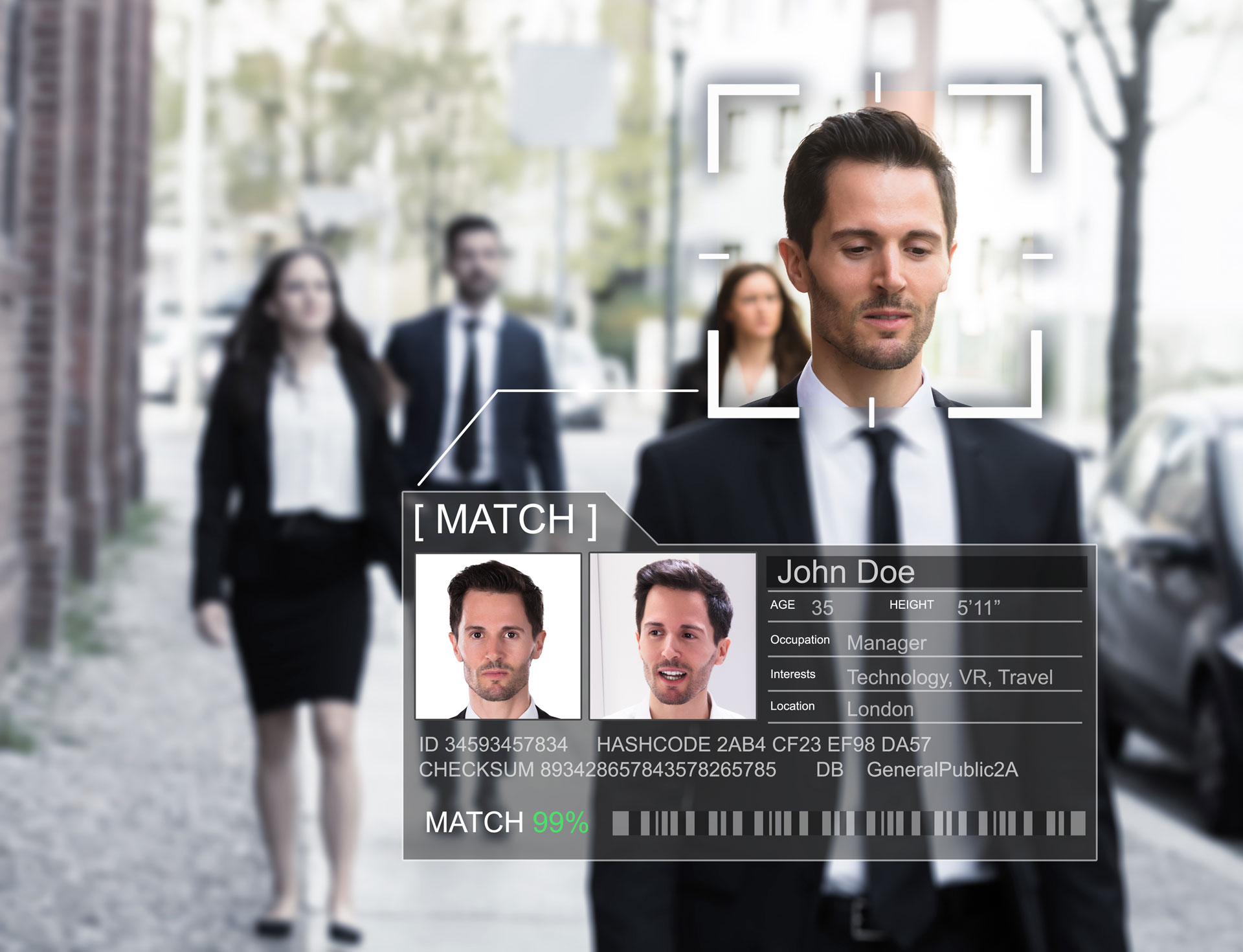 Facial recognition service uses online footprint to get real-time data on interests, habits