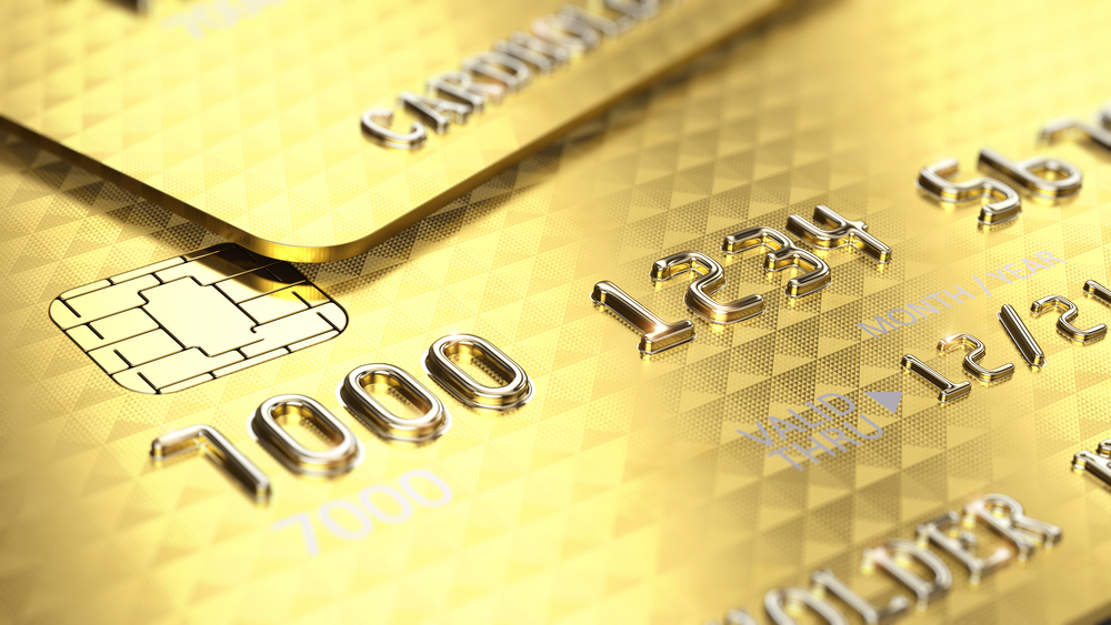 gold payment card