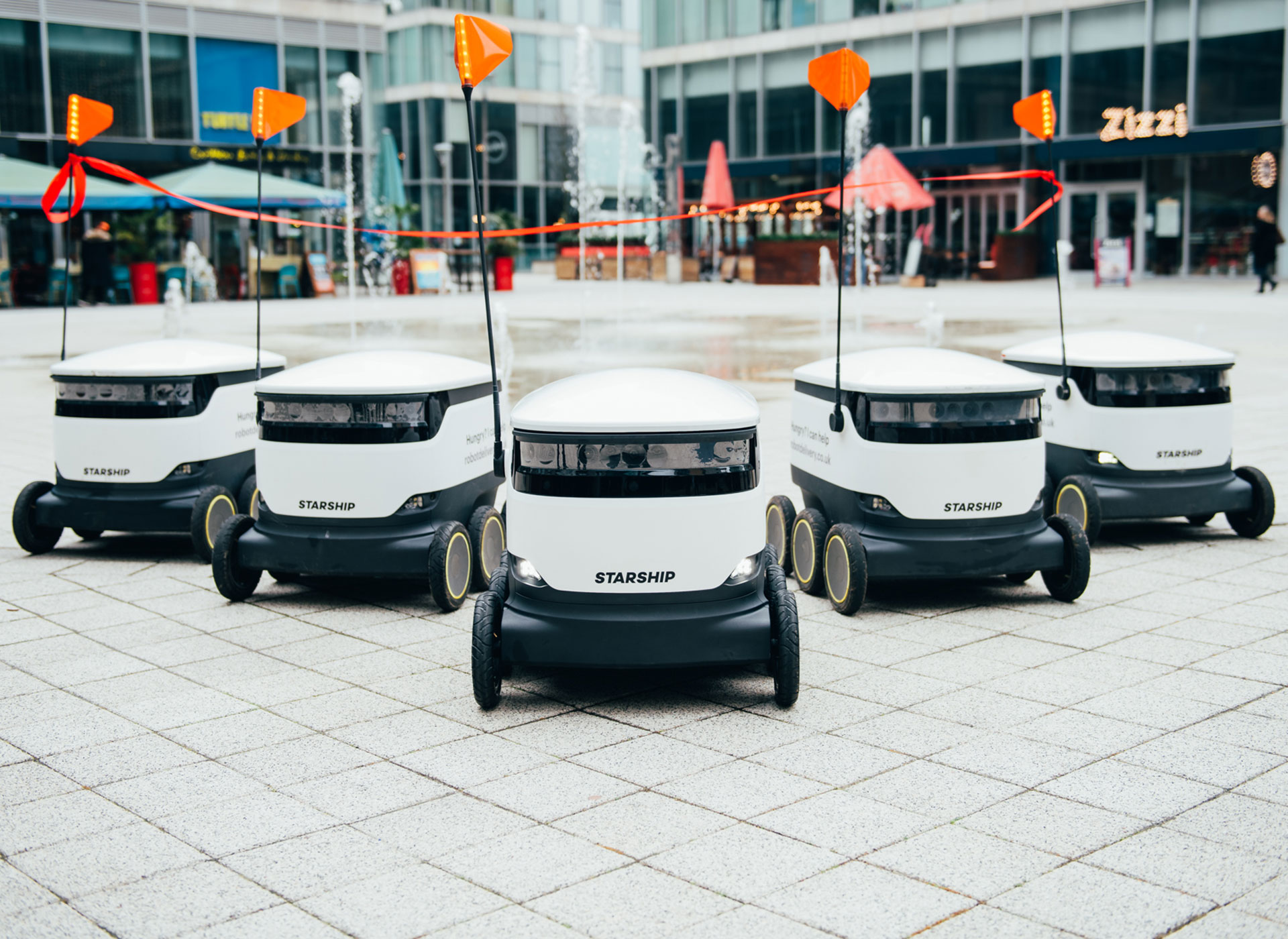 Robot delivery service comes to first UK town centre