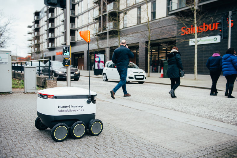 Robot delivery service Starship in milton keynes