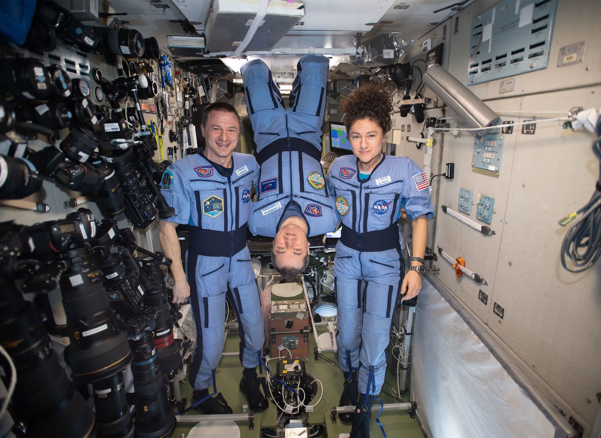 Astronauts return to a world changed by the coronavirus