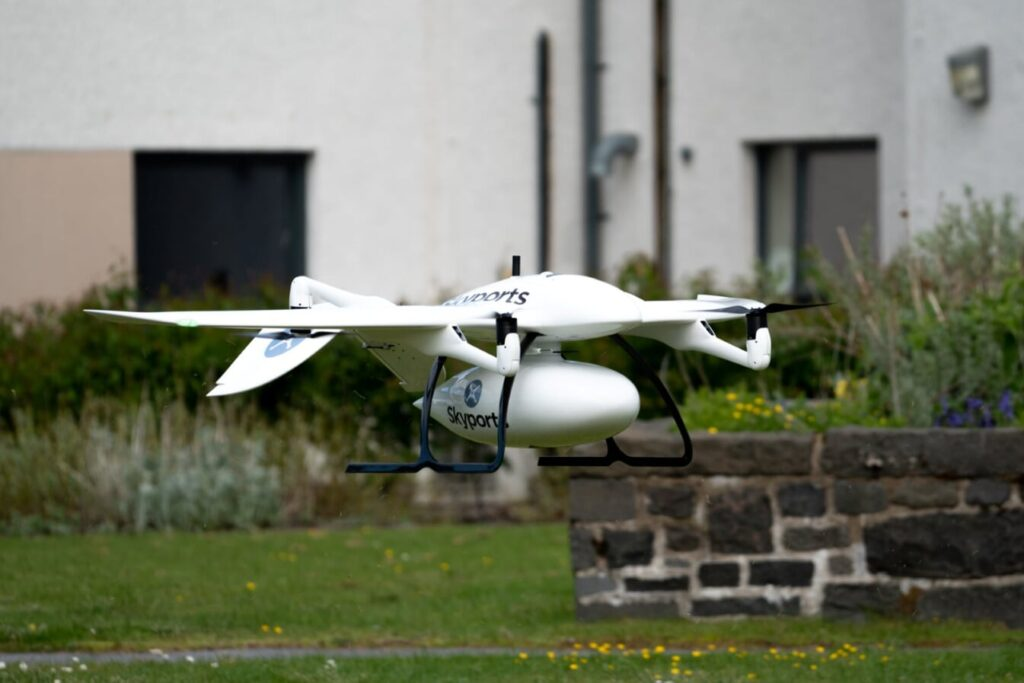 Skyports and Thales parter to deliver Covid-19 testing kits via drone