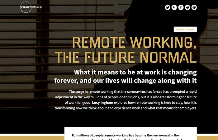 Verdict Magazine Issue 3 remote working