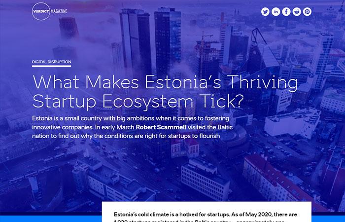 verdict magazine issue 3 estonia startup ecosystem