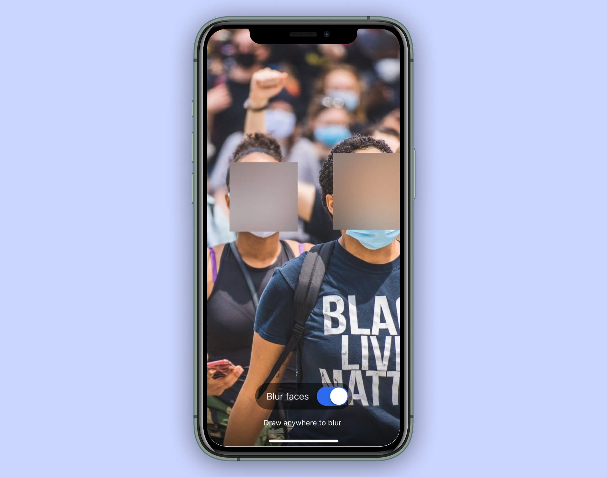 Secure messaging app Signal introduces face blur to protect protesters' identities