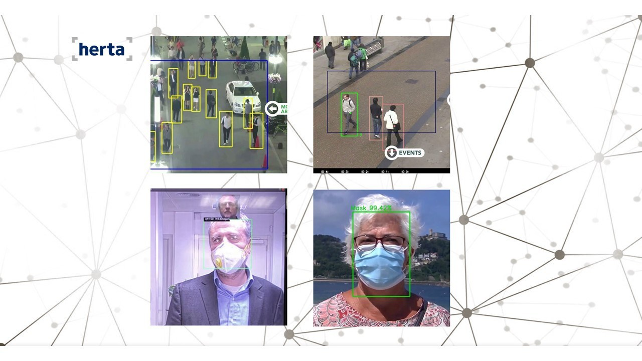 facial recognition social distancing mask