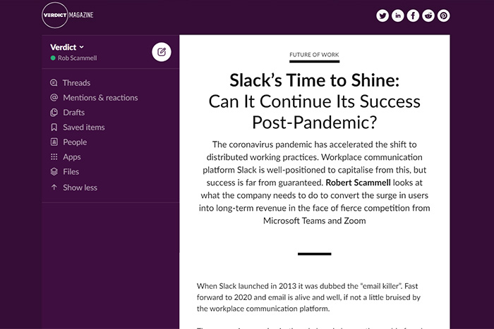verdict magazine issue 4: Slack