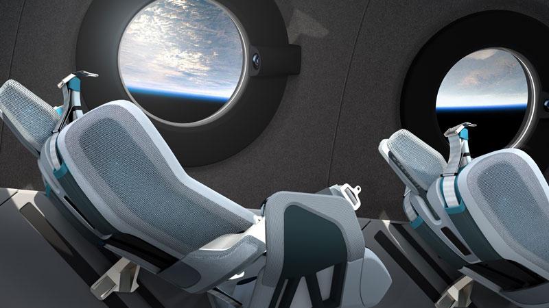 virgin galactic cabin design
