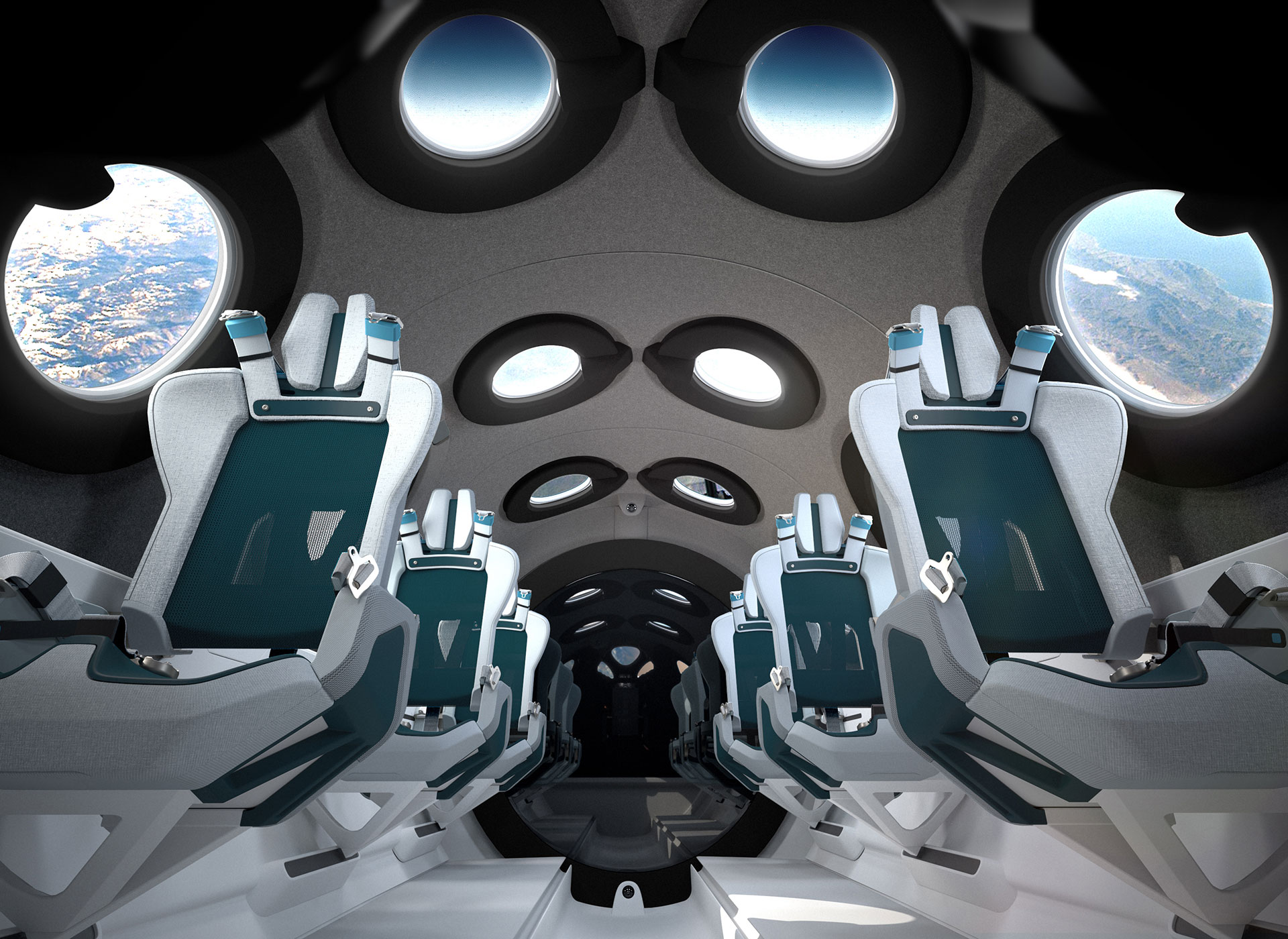 Luxury in space: Virgin Galactic reveals cabin design in key step towards launch