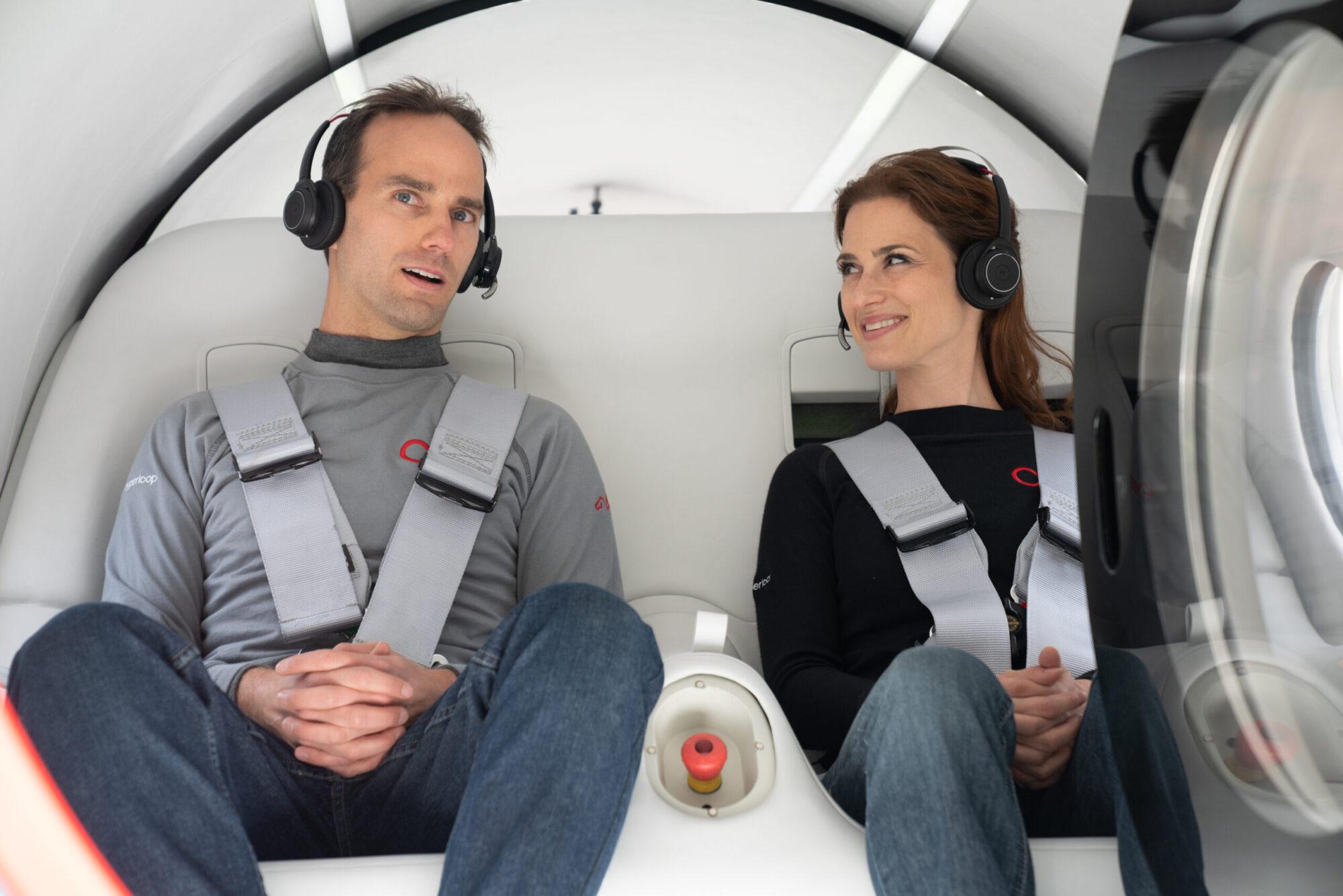 Levitating Virgin Hyperloop pod completes first passenger test