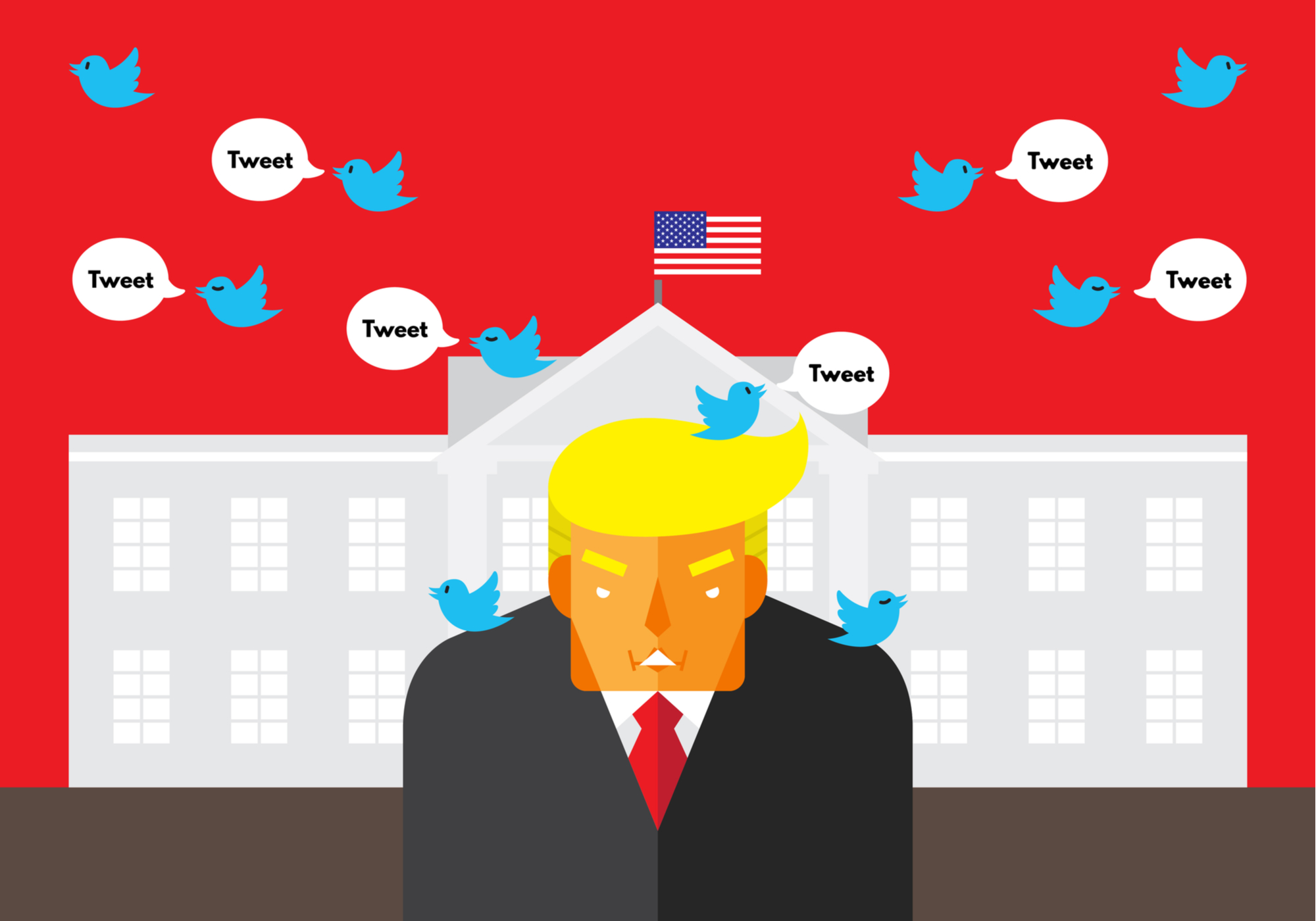 Twitter and Facebook tag false Trump mail voting claim on polling day