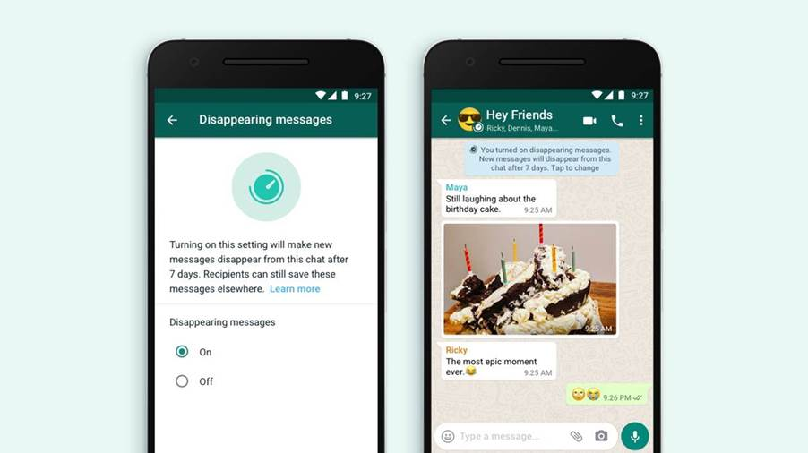 """WhatsApp introduces """"disappearing messages"""" feature"""