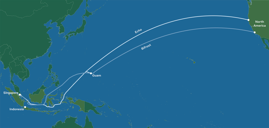 Facebook plans new subsea cables from US to Singapore – but not China