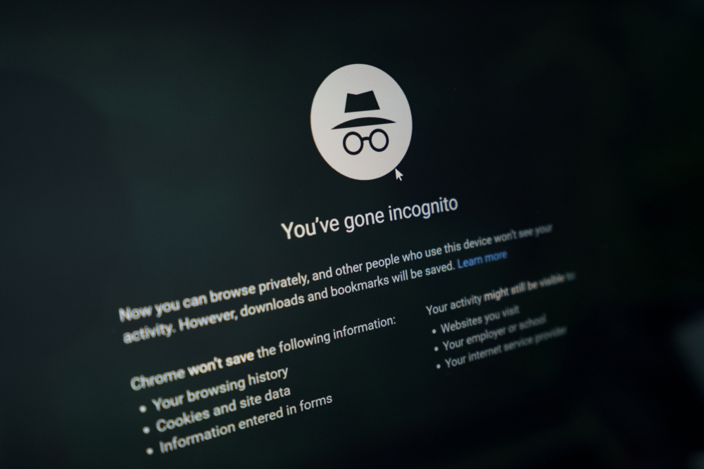 Chrome Incognito mode not in fact incognito, Google suit claims