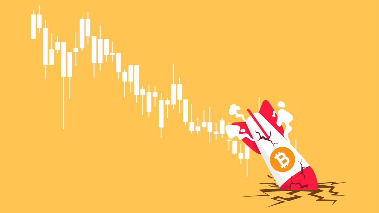 Crypto exchanges stock crashes as bitcoin continues to fall