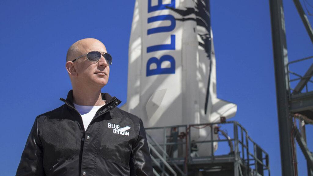 Bezos to blast into space on Blue Origin's first crewed flight