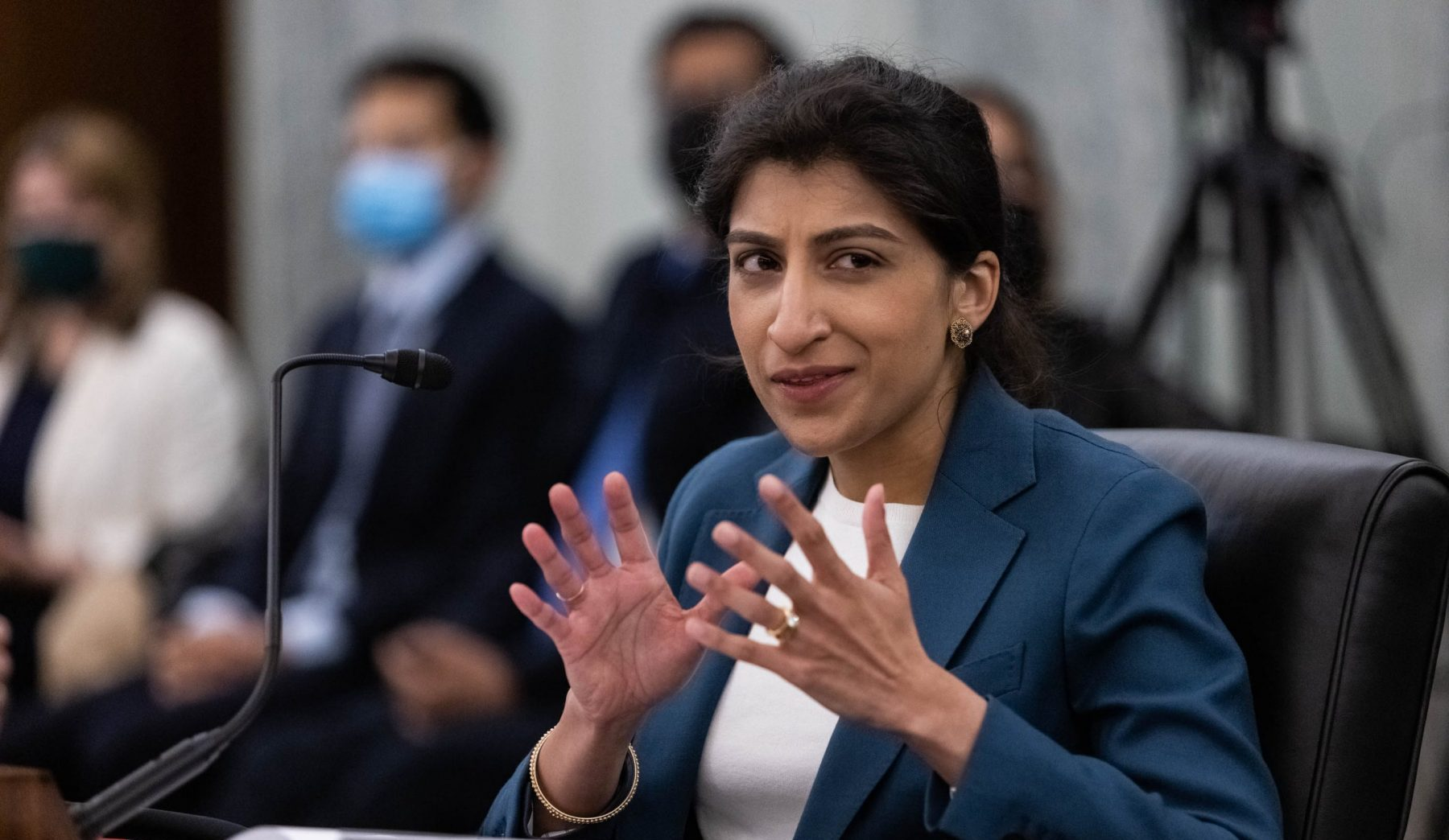 """Amazon to FTC: Don't let our """"adversary-in-chief"""" Lina Khan investigate us"""